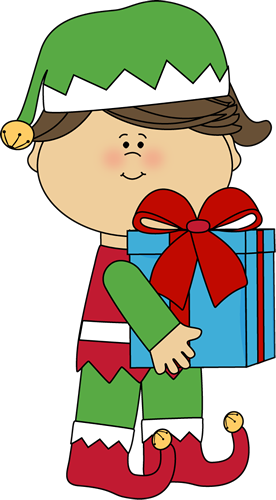 cute christmas elves clipart girl christmas elf with gift uhdxpv rh robinsons uk co uk clipart christmas elves working christmas elves images clip art
